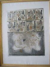 LOUTTRE BISSIERE - Gravure etching EA Du monde au balcon 1967 **