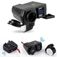 Motorrad ATV 4.2A Dual USB-Ladegerät Blauer Voltmeter Zigarettenanzünder Locator