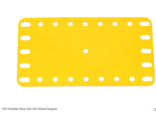 "Part 191 - yellow 4.5""x2.5"" flexible - 10 pieces"