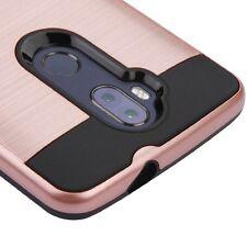 For ZTE Blade Max 3 Z986 / MAX XL N9560 ROSE GOLD BLACK Brushed Skin Cover Case