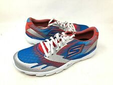 NEW! Skechers Men's Chevron Athletic Shoes Red/Wht/Blu Size:8 #53608 f10a a