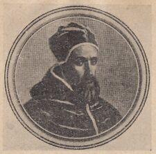 C2466 Ritratto di Papa Innocenzo IX - Stampa d'epoca - 1925 vintage print