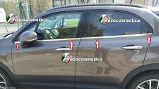 set 4 strisce Profili Raschiavetri Finestrini Acciaio Cromo Modellati Fiat 500X