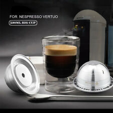 230ml Refillable Stainless Coffee Capsule Pod For Nespresso Vertuo Vertuoline