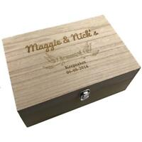 Personalised Large Wedding wooden Memories Keepsake Box HB-3