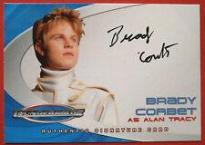 Thunderbirds - BRADY CORBET as ALAN TRACY - Autograph Card AC8 - Cards Inc 2004