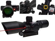 New Optics Gun 2.5-10x40 Rifle Scopes Red Laser Dual illuminated Mil-dot w/ Rail