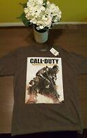 Call of Duty Advanced Warfare Mens T-shirt Size Large. Logo & Gunman Black. New.