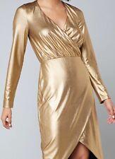 bebe Shana Metallic Dress