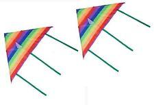 2 x Aquilone per bambini Rainbow facile da pilotare singola linea Divertente Bambini Giocattolo Colorato