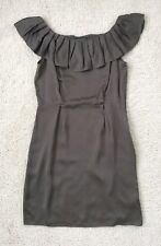 NWT Banana Republic Dress Flounce Cocktail Evening Party Sz 12 Brown Olive Green