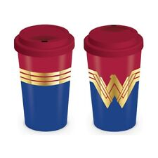 DC COMICS WONDER WOMAN EMBLEM TRAVEL MUG NEW 100% OFFICIAL MERCH