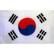 South Korea Country flag Banner Sign 3' x 5 Foot Polyester With Grommets