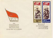 Ersttagsbrief DDR MiNr. 1268, 1271, Parteitag der Sozialistischen Einheitspartei