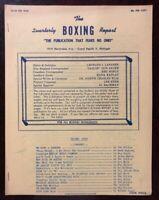Rare Spring 1963 The Quarterly Boxing Report Cassius Clay ,Sonny Liston etc