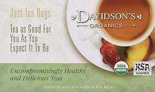 Hibiscus Flower Tea, Davidsons Organics Tea, 100 tea bag