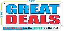 GREAT DEALS Banner Sign NEW Larger Size Best Quality for The $$$ Car & Truck Lot