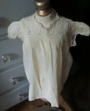 Antique! Tagged Yellow Embroidered Dress Infant Composition Bisque for Baby Doll