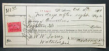 US Check Robbins Varnish Co. St. Louis Documentary Stamp 2c 1899 (H-7018+