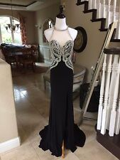 $460 NWT BLACK JVN BY JOVANI PROM/PAGEANT/FORMAL DRESS/GOWN #23570 SIZE 4