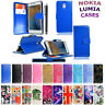 Leather Wallet/Flip Book Case Cover For Microsoft / Nokia Lumia Phones + Stylus