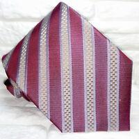 Krawatte rot grau & gold breit Made in Italy Seide hochzeit / business UVP € 38