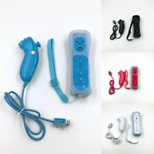 2-In-1 Remote Controller Accessory Motion Plus +Nunchuck + Case For Nintendo Wii