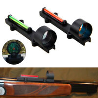 1X28 Green/Red Dot Fiber Sight Reflex Scope Sight Fit Shotgun Rib Rail Hunting