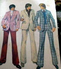 *VTG 1970s MENS PANTS & JACKET Sewing Pattern CHEST 36