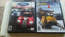 SKI-DOO SNOW RACING & Ford racing 2  Playstation 2 PS2 games with manuals used