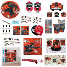 Ninja Karate Boys Birthday Party SuppliesTableware Decorations Favors Red, Black