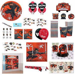 Ninja Karate Boys Birthday Party SuppliesTableware Decorations Favors Red, Black