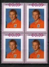 Nederland Persoonlijke zegel WK 2006 Worldcup Dirk Kuyt 2420 blok van 4