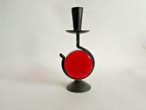 Glass & Metal Candle Holder By Erik Hoglund 2/3
