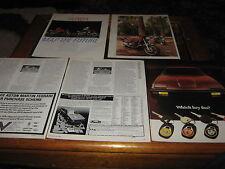 Honda VF750, Honda CBX550F motorbike article, Toyota Celica Supra advert