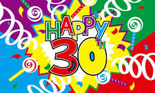 5' x 3' Happy 30th Birthday Flag Party Celebration 30 Years Old Banner