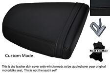 BLACK STITCH CUSTOM FITS TRIUMPH SPEED TRIPLE 955 i 01-05 REAR LTHR SEAT COVER