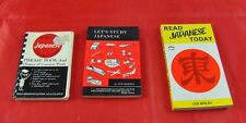 Lot of 3 Japanese Books Study Read Today & Phrase Book For Travelers Learn X5G9