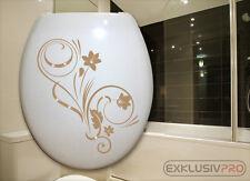 WC Deckel Toiletten Aufkleber Swarovski Strass Tattoo Blumen Ranke Bad Dusche 07