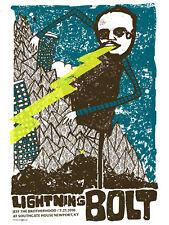 Lightning Bolt July 2010 Limited Edition Gig Poster