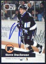 Steve Duchesne Philadelphia Flyers 1991-92 Pro Set ProSet Signed Card