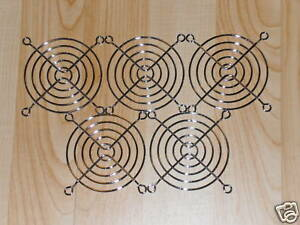lot of 5 chrome 80MM Wire Fan Grill