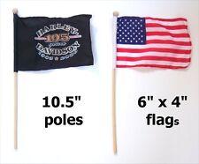 HARLEY DAVIDSON 105 YEARS 1903 2008 USA MINI FLAG SET NEW NOS OFFICIAL