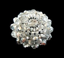 SHERMAN - Mirrored Crystal Dome Brooch/Pin - Signed - Canada - Mid 20th Century