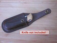 Leather sheath for Buck 110 Folding Hunter-- horizontal carry --