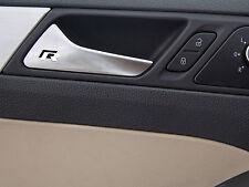 6 x VW R-line Stickers for Door Handles Golf GT Passat UP Volkswagen Emblem Logo