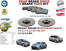 für Renault Megane III Fließheck 2008- > Bremsscheiben SET HINTEN+Bremsbelagsatz