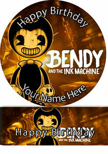 Cake Topper Birthday Bendy Ink personalised Rice paper,Icing fondant Sheets 1183