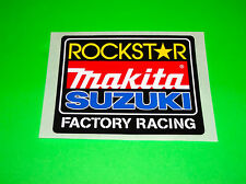 SUZUKI RM RMZ 80 85 100 125 250 450 MAKITA ROCKSTAR ENERGY MOTOCROSS STICKERS *#