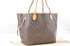 Authentic Louis Vuitton Monogram Neverfull MM Tote Bag M40156 LV 34911
